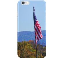 Old Glory And The Blue Ridge iPhone Case/Skin