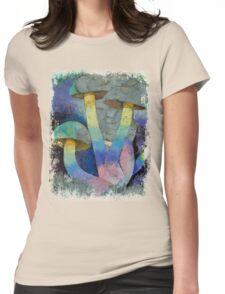 Magic Mushrooms Womens Fitted T-Shirt