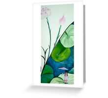 Girl and Lotus Greeting Card