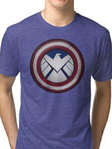 The Captain's S.H.I.E.L.D. Tri-blend T-Shirt