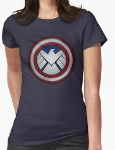 The Captain's S.H.I.E.L.D. Womens Fitted T-Shirt