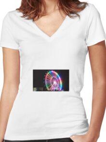 Ferris Wheel Women's Fitted V-Neck T-Shirt