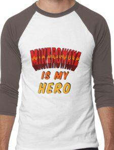 Mike-Ro-Wave Is My Hero Men's Baseball ¾ T-Shirt
