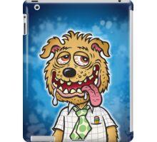 Scum Pup Dog on Blue Mottled Background iPad Case/Skin