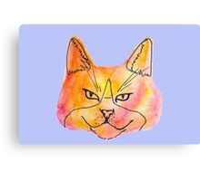 Warm Watercolor Kitty Canvas Print