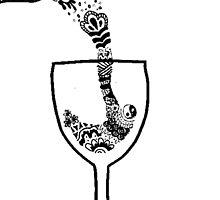 Wine Glass Zentangle by alexavec