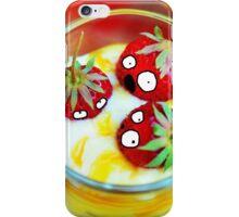 Strawberry Dessert Surprised Doodle iPhone Case/Skin