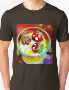 Strawberry Dessert Surprised Doodle T-Shirt