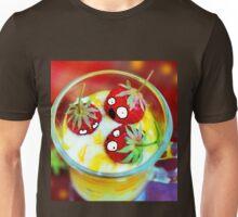 Strawberry Dessert Surprised Doodle Unisex T-Shirt