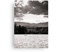 Spring in NH Landscape BW Canvas Print