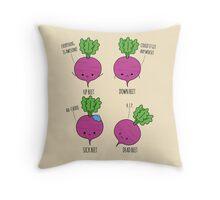 Beet Puns Throw Pillow