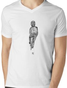 Grim Cyclist Mens V-Neck T-Shirt