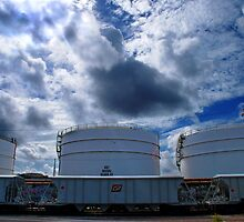 3 oil tanks by Mark Malinowski