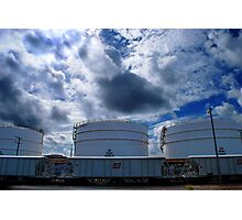 3 oil tanks Photographic Print