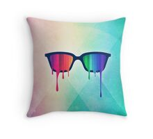 Love Wins! Rainbow - Spectrum (Pride) / Hipster Nerd Glasses Throw Pillow