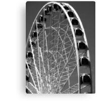 Seattle Ferris Wheel Black & White Canvas Print