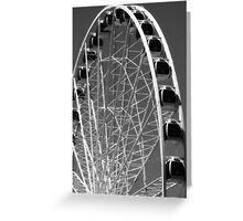 Seattle Ferris Wheel Black & White Greeting Card