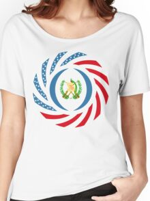 Guatemalan American Multinational Patriot Flag Series Women's Relaxed Fit T-Shirt