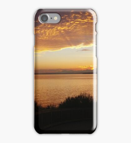 Radiant Seattle Beach Sunset iPhone Case/Skin
