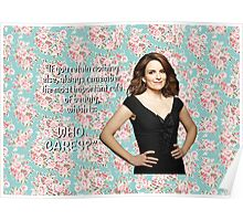 Tina Fey on Beauty Poster