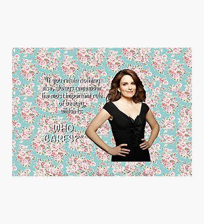 Tina Fey on Beauty Photographic Print