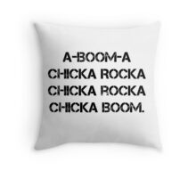 Boom Chicka Boom Grunge Girl Scout Campfire Song Throw Pillow