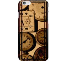 Triptych Antique Watches Sepia iPhone Case/Skin