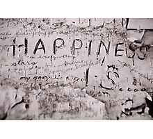 Happiness Is... Photographic Print