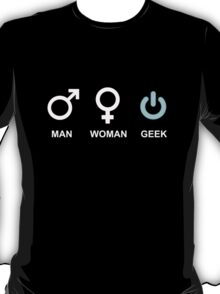 Man Woman Geek Computer Symbol T-Shirt