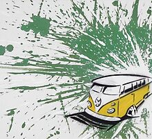 Dub Splat 03 Painting by Richard Yeomans
