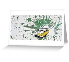 Dub Splat 03 Painting Greeting Card