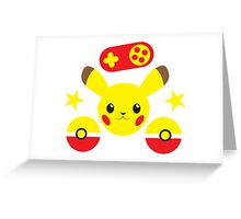 Pocket monster simple with pokeball Greeting Card