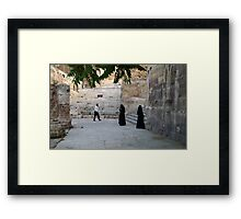 Visitors to the Capital City of Jordan Framed Print