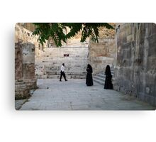 Visitors to the Capital City of Jordan Canvas Print