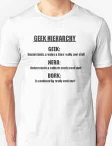 Geek Hierarchy Definitions  T-Shirt