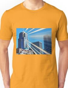 Seattle Skyscrapers Art Deco Unisex T-Shirt