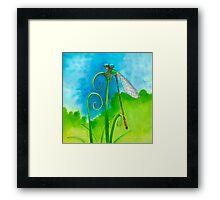 Little Dragonfly Dude  Framed Print