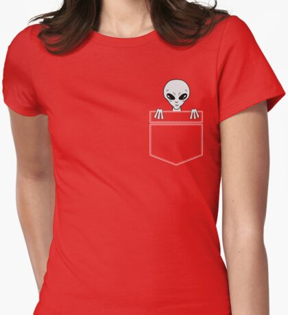 Alien in the pocket Womens Fitted T-Shirt