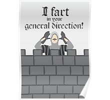 Monty Python French Taunting Guard Poster