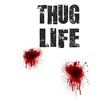 Thug Life With Bullet Wounds by movieshirtguy