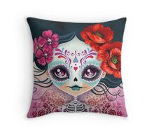 Amelia Calavera - Sugar Skull Throw Pillow
