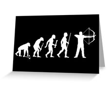 Evolution of Man and Archery Greeting Card