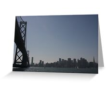 at water level: San Francisco Greeting Card
