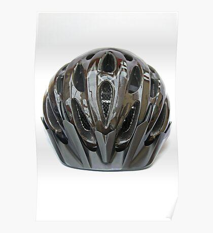 Black cycling helmet Poster