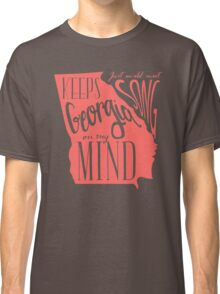 Georgia Map Typography Classic T-Shirt