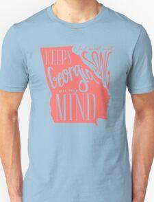 Georgia Map Typography T-Shirt