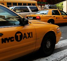 hailing a cab. by leahgood