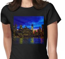VIEWING MANHATTAN Womens Fitted T-Shirt