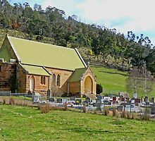 St Andrews Anglican Church, Ellendale, Tasmania, Australia by Margaret  Hyde