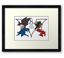 Batman & Robin Framed Print